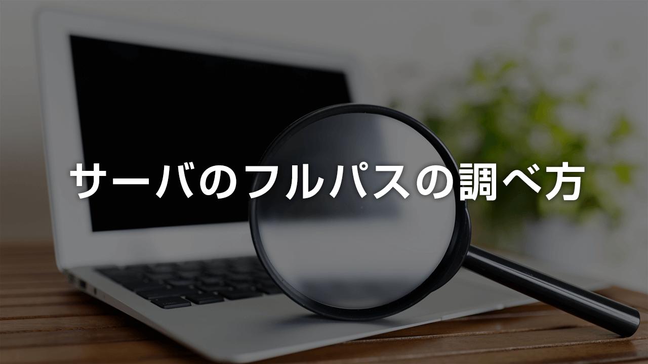 【簡単】サーバーのフルパスの調べ方、PHPでサーバの絶対パスを調べる