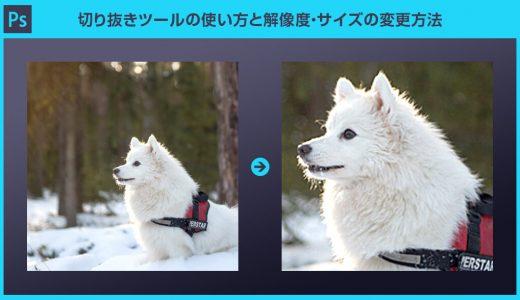 【Photoshop】切り抜きツールの使い方と解像度・サイズの変更方法を徹底解説